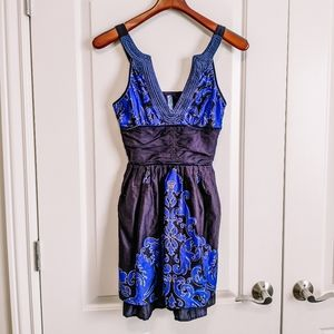 Free people black and blue dress